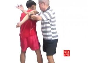 Taiji subdues a dagger by : 怀中抱月(二)+  斜飞势