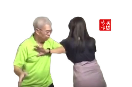 Turn around, lean or strike(转身靠打) to subdue long pole/H/M kick